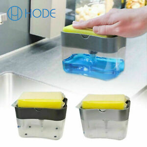 Soap Pump Dispenser & Sponge Holder For Dish Soap And Sponge For Kitchen UK