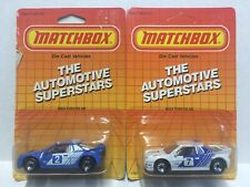 (2)Vintage 1987 Matchbox 1:64 Scale The Automotive Superstars Ford Rs 200 [Mb34]