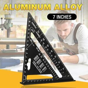 """7"""" / 12"""" Aluminum Alloy Speed Square Quick Roofing Rafter Triangle Ruler Guide"""