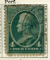 USA; 1880s early Presidential series issue used 4c. value