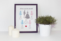 In These Moments Time Stood Still Family Wedding Baby Word Art A4 A3 Print