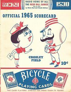 1965 Cincinnati Reds-Phillies Program/Scorecard Reds Win Slugfest!!