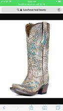 Womens boots 65% off Lucchese M3571 Desert Plato Boot w/ turquoise inlay sz 9