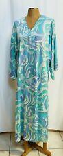 Natori Caftan Kaftan Kimono Gown Lounger Muumuu Robe Size XL Multi-Colored ~fs