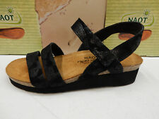 NAOT WOMENS SANDALS KAYLA BLACK LACE NUBUCK SIZE EU 40