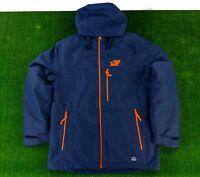 $250 O'Neil Exile Snowboarding Long Fit Ski Snow Sz LARGE Jacket Blue Orange