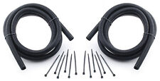 """Split Loom Tubing Kit Convoluted Tube Wire Sleeve Black 1/2"""" ID 16' CHEVY FORD"""