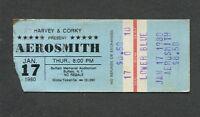 1980 Aerosmith Mother's Finest concert ticket stub Buffalo Night In The Ruts