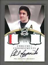 2007-08 THE CUP Emblems of Endorsements Phil Esposito Jersey Patch AUTO 1/4