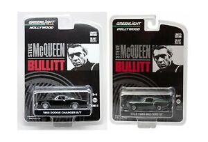 Steve Mcqueen Set Hollywood Movie Series 2 Car Set - Greenlight 1968 Dodge Ch...