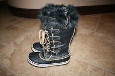 NEW Women's Sorel Joan of Arctic Safari Winter Boots Size 9 Black Leopard