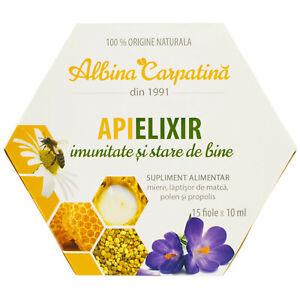 Organic honey royal jelly pollen extract propolis extract Apielixir 15 x 10ml
