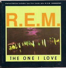 REM R E M The One I Love Ltd ed includes 2 live tracks & biography UK CD Single