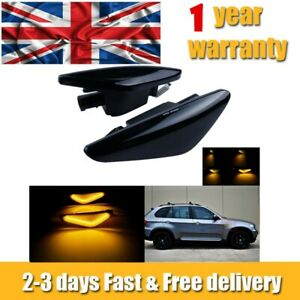 2x For BMW X5 E70 X3 F25 X6 E71 Dynamic LED Side Indicator Repeater Light Amber