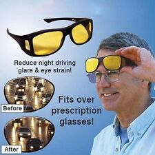 High Def Night Time Wrap Around Glasses that Go Over Your Glasses-DRIVE AT NIGHT
