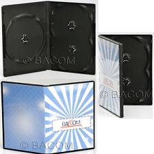 50 Custodie DVD Triple Nere - BOX Nero per 3 DVD/CD  Spedizione Gratuita!
