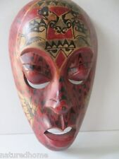 "10"" MASK, HANDCARVED & PAINTED on the Island of Lombok, Indonesia"