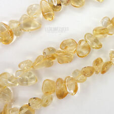 "SALE 15"" Natural Citrine Free Form Nugget Drop Beads ap. 8mm - 12mm* #15194"