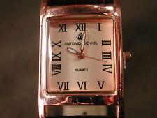 Para Hombre Antonio Michael Cobre salmón Cuarzo Reloj