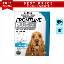 Frontline Plus for Dogs 6 Doses 10 to 20 Kg BLUE Pack by Merial