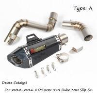 For 2012-2016 KTM 200 390 Exhaust Pipe Slip On Duke 390 51 mm Motorcycle Pipe