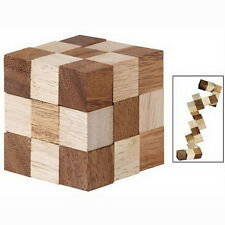 RUBIK CUBE SNAKE PUZZLE MAGIC 3D WOOD TOY GAME KIDS BABY CHILDREN TWIST GIFT NEW