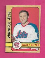 1972-73 OPC WHA # 308 JETS WALLY BOYER  HIGH # GOOD  CARD (INV# C9280)