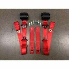 3pt Red Retractable Seat Belt Standard Buckle - Each v8 muscle car hot rod gm v6