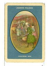 "Single Vintage Wide Playing Card, ""Johnie Walker Coaching 1820"" Whiskey"