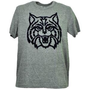 NCAA Arizona Wildcats Feutre Logo Gris T-Shirt Hommes Adulte Court Manche SPORTS