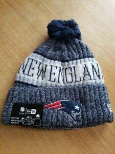 New Era NFL New England Patriots Sport Stocking Knit Hat Winter Beanie Pom