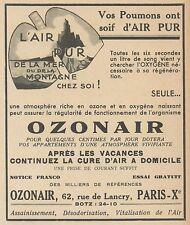 Z9968 OZONAIR l'air pur -  Pubblicità d'epoca - 1937 Old advertising