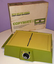 COPYMATE II DRY COPIER LIGHT EXPOSURE PHOTOCOPIER VINTAGE 1970