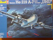 """REVELL 04666 Heinkel He 219 A-7/A-5/A-2 late """"Uhu"""" 1:32 Neu und versiegelt"""