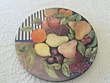 Gien France La Ronde Des Fruits Cake Plate #6