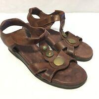 Elites by Walking Cradles Size 7N Brown Leather Sandals - Comfort Shoes