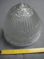 Dôme en verre satiné lampe fer forgé art déco 1930 diamètre 18 cm