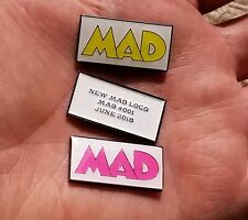 2 New MAD Magazine Logo Metal Tags BOTH Variants only 50 Made! #1 #001 June 2018