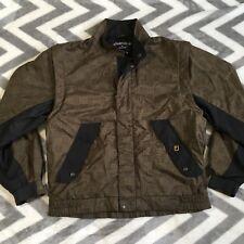 FootJoy DryJoys Mens Brown Wind Rain Resistant Golf Zip Jacket Removable sleeve