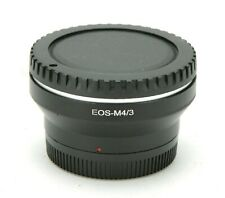 Canon EOS-M4/3 Manual Adapter. EF Lens To Micro Four Thirds M43 Cameras. Ex.