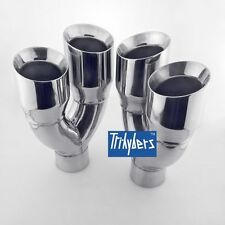 """Quad 4"""" Outlet / Single 2.5"""" Inlet exhaust tips for ACURA TLS TL"""
