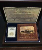 NGC 1858 O Silver Half Dollar seated half dollar shipwreck Coin Box & COA RARE