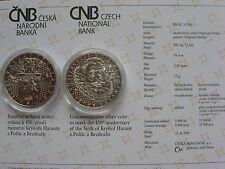 La república checa 2014 200 coronas moneda de plata coin St bu-krystof harant -