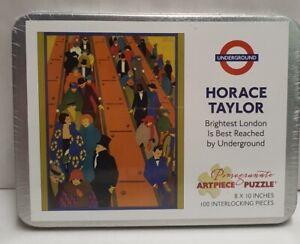 Horace Taylor London Underground Jigsaw 100pce Pomegranate Artpiece 20x25cm MIB