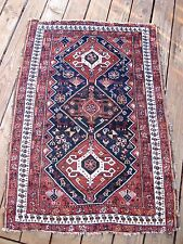 1900 ANTIQUE  SMALL FINE  RUG AMAZING   WITH LITTLE WORK