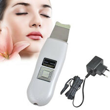 US Rechargeable Ultrasonic Ion Skin Scrubber Microdermabrasion Facial Massager