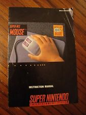 SNES Super Nintendo Mouse Instruction Manual - only the manual, no game/box