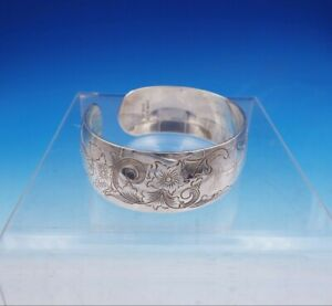 "Old Maryland by Kirk Sterling Silver Bracelet Bangle Cuff Original 2 1/8"" x 2"""