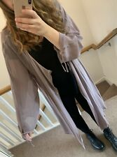 BELLA DONNA Lilac Purple Semi Sheer Long Oversized Cover Up Cardigan Size 20-22