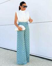 Zara Geometric Print Wide Leg Trousers.  Size M